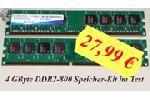 A-Data 4GB DDR2-800 Speicher Kit