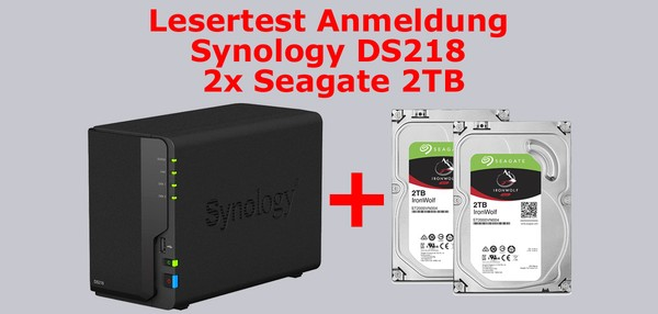 Synology DS218 kostenlos testen im Leser