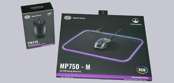 Cooler Master MP750-M RGB Mauspad und CM310 Maus
