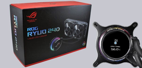 Asus ROG Ryuo 240 AIO with OLED