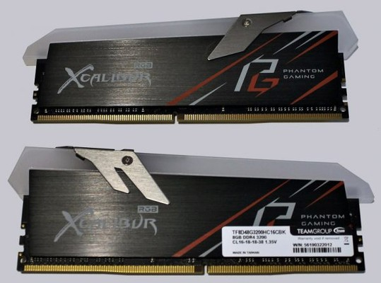TeamGroup T-Force Xcalibur Phantom Gaming DDR4-3200