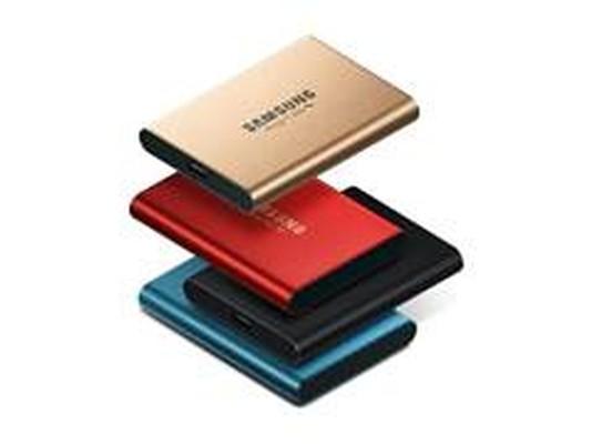 Samsung T5 500GB und 1TB in Rose Gold und Metallic Red