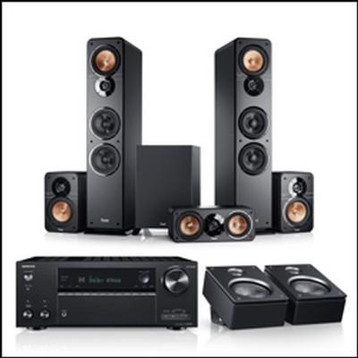 Teufel Lautsprecher mit Onkyo TX-NR696 und TX-RZ840 AV-Receiver