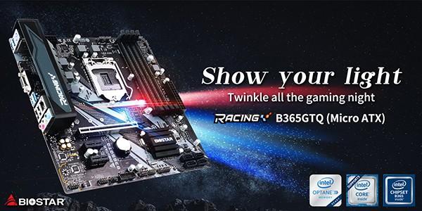 Biostar Racing B365GTQ Micro ATX Motherboard