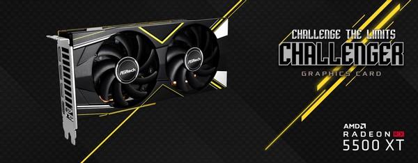 ASRock RX 5500 XT Challenger D 8G OC and RX 5500 XT Challenger D 4G OC