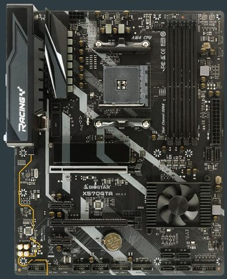 Biostar Racing X570GTA AM4 Motherboard