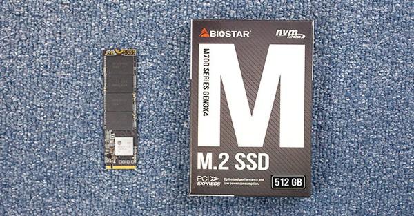 Biostar M700 512 GB PCIe NVMe SSD