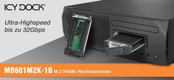 Icy Dock ToughArmor MB601M2K-1B M2 PCIe NVMe SSD Wechselrahmen