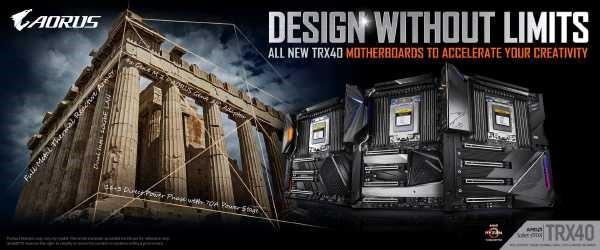 Gigabyte TRX40 mit 3990X Support