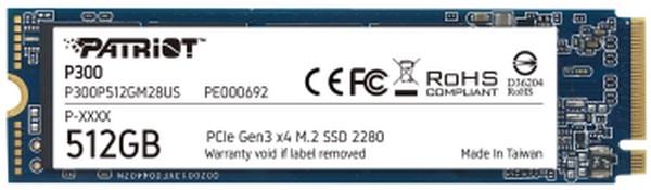 Patriot P300 512GB M2 PCIe SSD