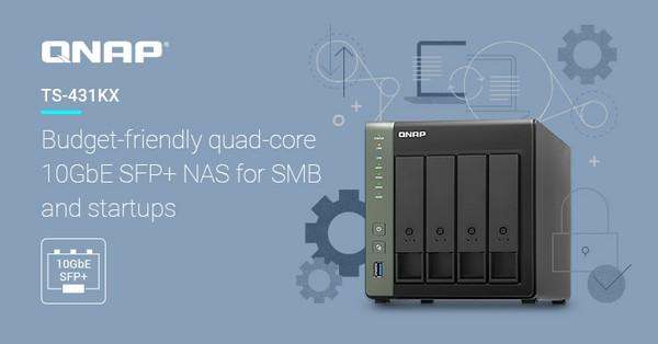 Qnap TS-431KX Quad-Core 10 GbE NAS