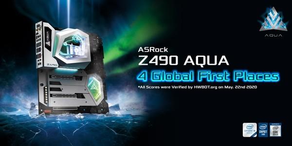 ASRock Z490 AQUA Rekorde