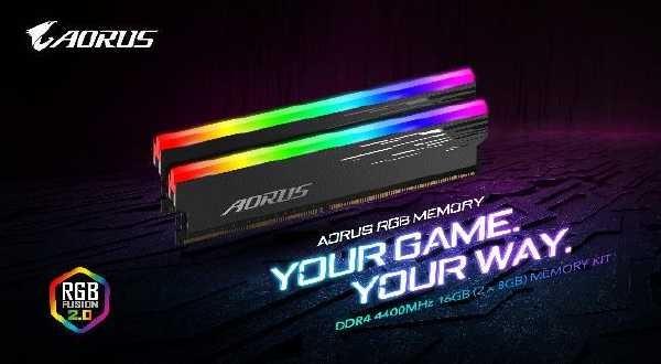Gigabyte Aorus RGB 4400MHz 16GB Speicher