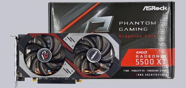 ASRock Radeon RX5500 XT Phantom Gaming D 8G OC