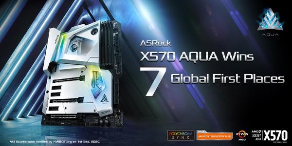 ASRock X570 AQUA Boost Records