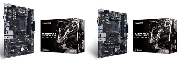 Biostar A520MH V61 and B550MH V61 Motherboards