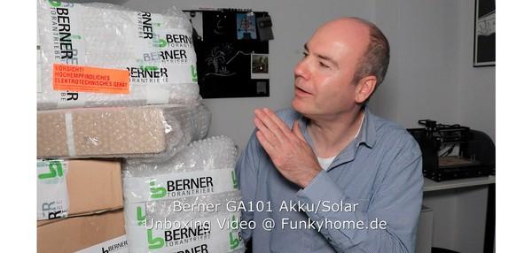 Berner GA101 Akku Solar Unboxing Video