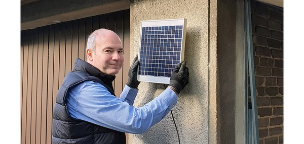 Berner GA101 Akku Solar Garagentoröffner Montage