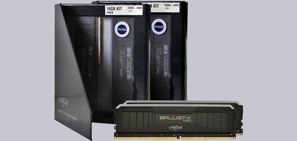 Crucial Ballistix Max RGB 4x 8GB DDR4-4000 RAM