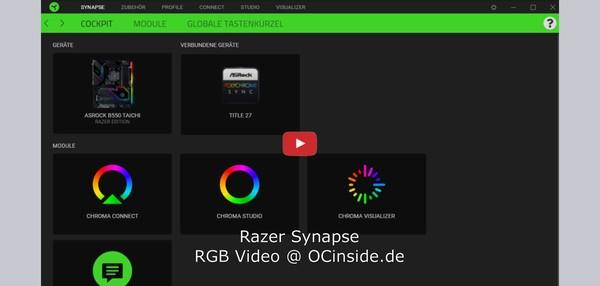 ASRock Razer Edition Mainboard Razer Synapse 3 Video