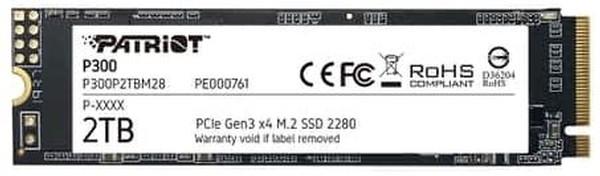 Patriot P300 M2 PCIe Gen 3 x4 2TB SSD