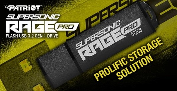 Patriot Supersonic Rage PRO USB 32 Gen 1 Flash Drive