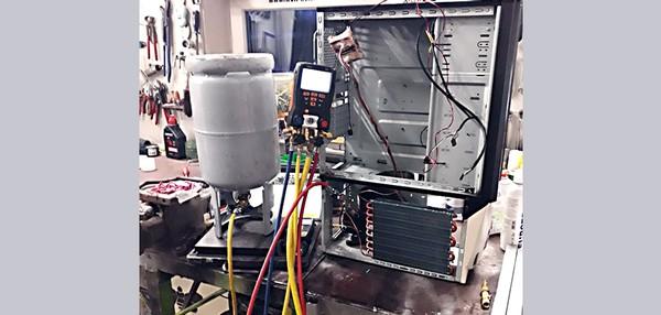 Kompressorkühlung bauen Worklog