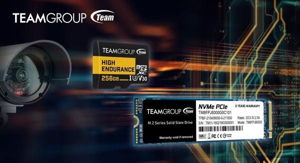 Teamgroup Mp34q 8TB M2 PCIe SSD und Teamgroup High Endurance Card