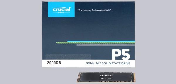 Crucial P5 M2 NVMe 2TB SSD