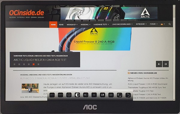 AOC 16T2 Touchscreen